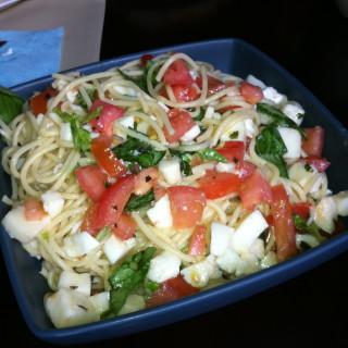 Spaghetti Alla Caprese and Parmesan Fish Sticks (Great for Kids!)