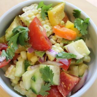 Avocado & Grilled Corn Salad with Cilantro Vinaigrette