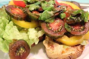 Open-Faced Garden Sandwich