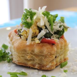 Veggie Omelette Puffs