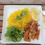 Slow Cooker BBQ Thai Chicken & Golden Rice