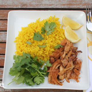 Slow Cooker BBQ Thai Chicken & Golden Rice