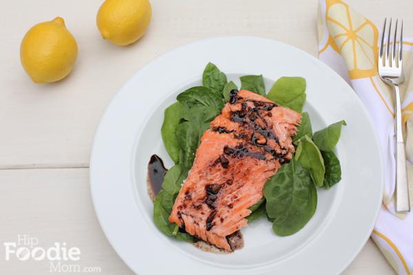 Kickin' It Healthy with Balsamic-Glazed Salmon - Hip Foodie Mom
