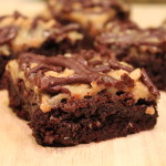 Salted Caramel Brownies with English Toffee
