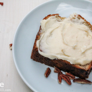 Best Banana Bread with Cream Cheese Frosting