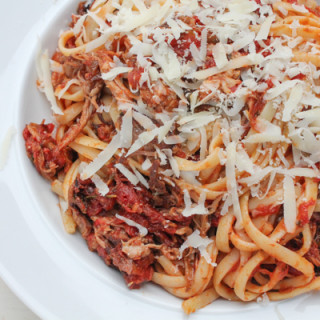 Pork Shoulder Ragù with Linguine