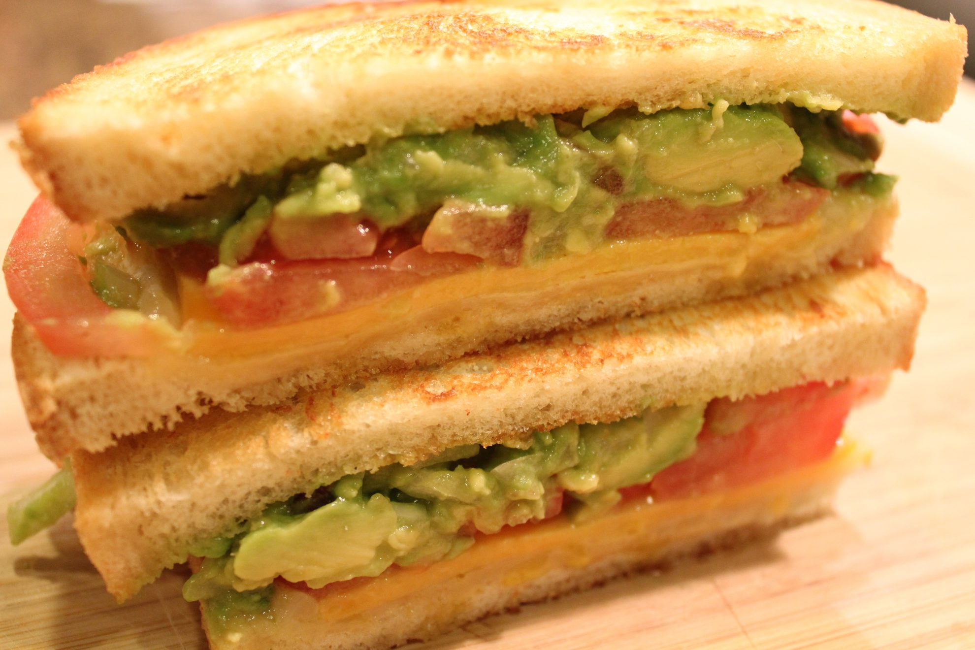 Stacked Grilled Cheese Sandwich with Guacamole - Hip Foodie Mom