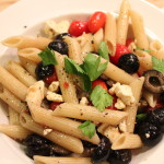 Penne Pasta with Olives and Sugar Plum Tomatoes