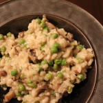 Risotto with Mushrooms, Peas, Parmesan & Mozzarella