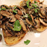 Simple Garlic Mushroom Bruschetta