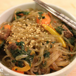 Korean Food: Chapchae (Stir Fried Noodles) in celebration of Chuseok!