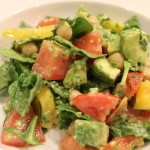 Yummy Chunky Salad with Basil Vinaigrette!!