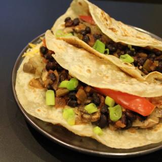 Chicken and Black Bean-Stuffed Burritos