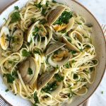 Linguine with Mushrooms and Clam Sauce
