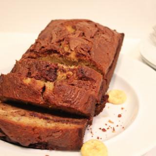 Chocolate Hazelnut Banana Bread with Rolo Bits!