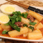 Korean Food: Dukboki - Korean Rice Cake in Red Pepper Sauce