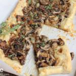 Onion, Mushroom & Thyme Tart.