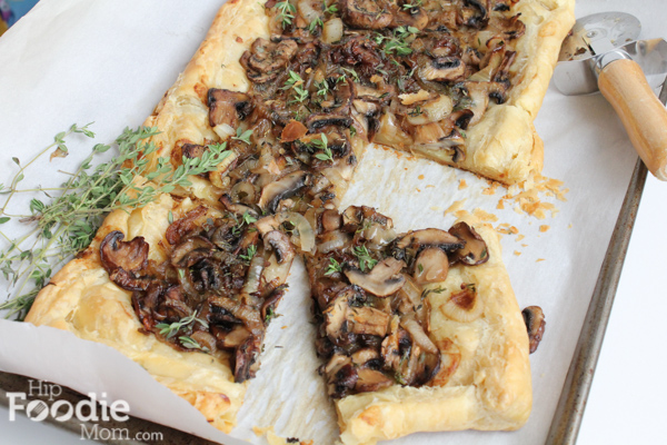 Caramelized Onion, Mushroom and Thyme Tart. So easy and delicious!