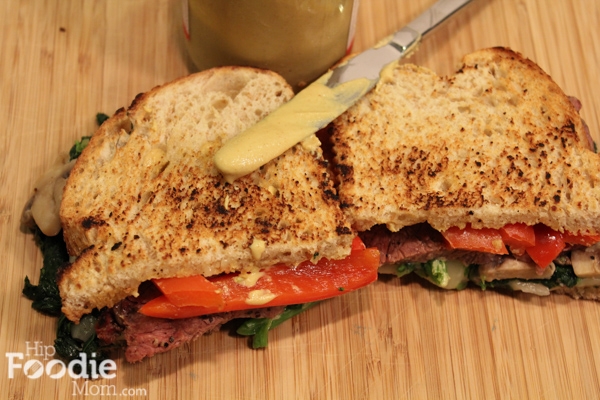 Beef, Broccoli Rabe and Provolone Sandwich - Hip Foodie Mom