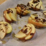 Apple, Brie and Honey Bruschetta.