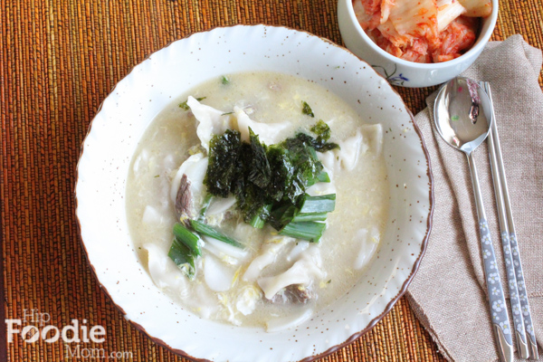 Korean Food: Duk Mandu Guk for New Year's Day!! A traditional Korean food meal for New Years Day. Korean Rice Cake and Dumpling Soup.