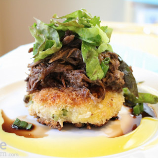 Sunday Pot Roast with Risotto Cakes from Kelsey Nixon for #SundaySupper