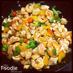 Shrimp and Chicken (or beef) Stir Fry . . . Like Mother, Like Daughter!