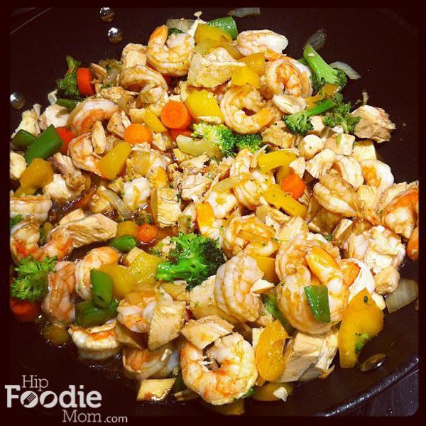 Healthy Delicious Shrimp And Chicken Stir Fry Recipe Hip Foodie Mom