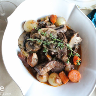 Julia Child's Boeuf Bourguignon for #SundaySupper
