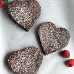 Heart Shaped Flourless Chocolate Cakes