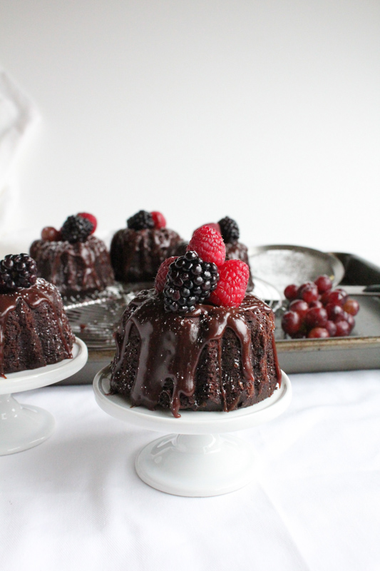 Chocolate Bundt Cake Decorating Ideas : mini chocolate bundt cakes