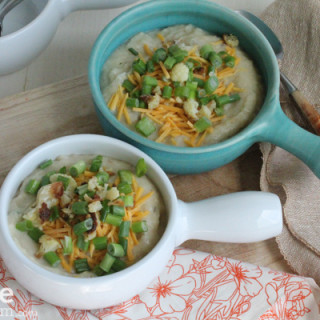 Healthier, Less Loaded Potato Soup!