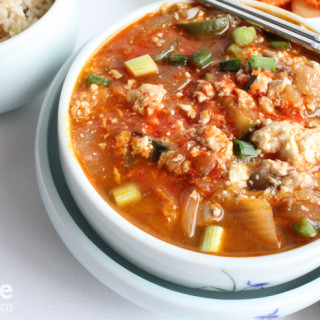 Korean Food: Soft Tofu Soup (Soondubu Jjigae) for #SundaySupper