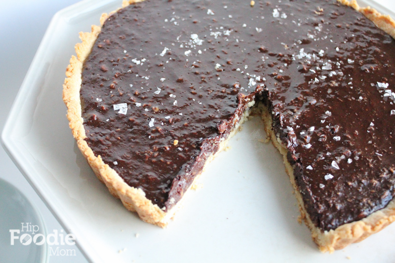 Bittersweet Chocolate Hazelnut Tart • Hip Foodie Mom