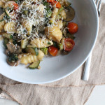 Homemade Ricotta Gnocchi with Vegetables