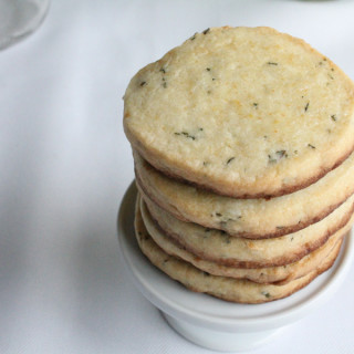 Lemon Ginger Thyme Shortbread Cookies