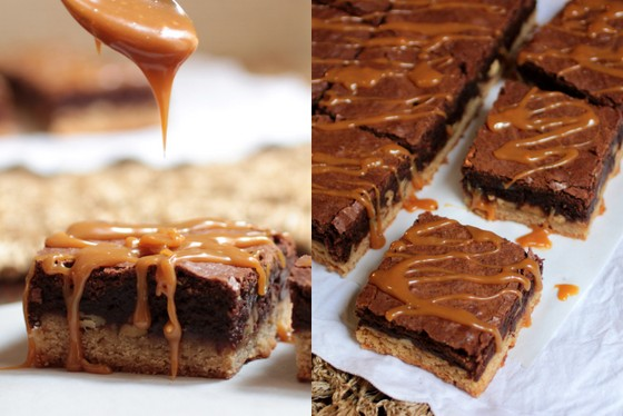 Caramel Congo Bars | Vintage Kitchen_sidebyside