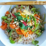 Asian noodle bowl | HipFoodieMom.com