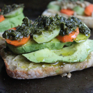 Avocado and Hummus Toast: 2 Ways!