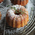 Olive Oil and Thyme Mini Bundt Cakes