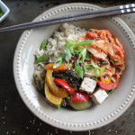 Kimchi Veggie Brown Rice Bowl for #WeekdaySupper