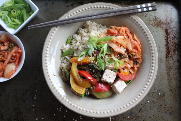 rice bowl with veggies | HipFoodieMom.com