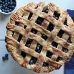 Lattice-Top Blueberry Pie for #SundaySupper