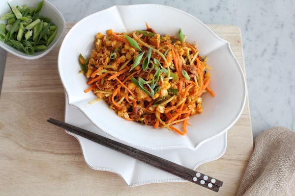 Spicy Bacon and Corn Salad | HipFoodieMom.com