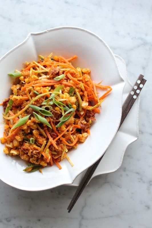 Spicy Bacon and Corn Salad_vertical2 | HipFoodieMom.com
