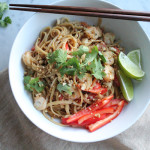 Spicy Asian Peanut Noodles with Shrimp