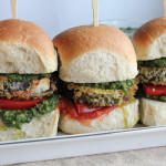 Eggplant Sliders with Arugula Pesto
