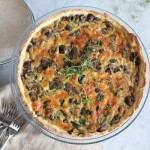 Leek, Mushroom and Gruyère Quiche for #SundaySupper
