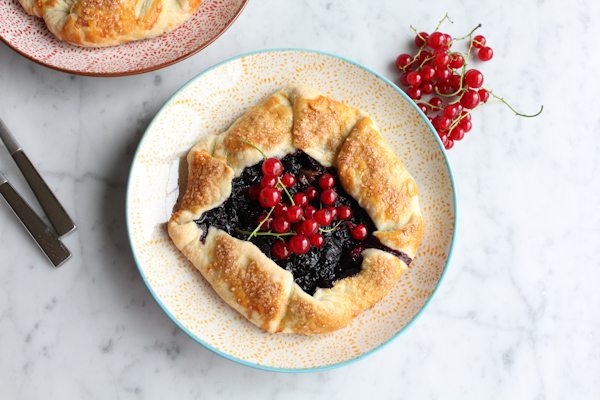 Mini Berry Galettes with berries.