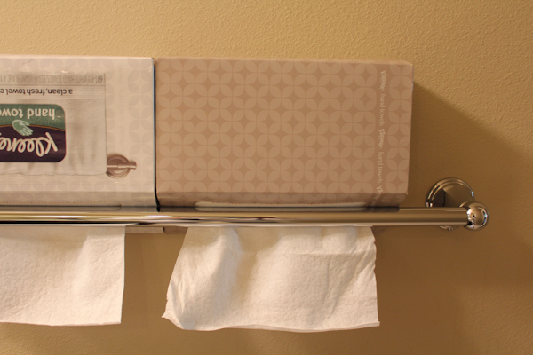 kleenex hand towels upclose_wall | HipFoodieMom.com